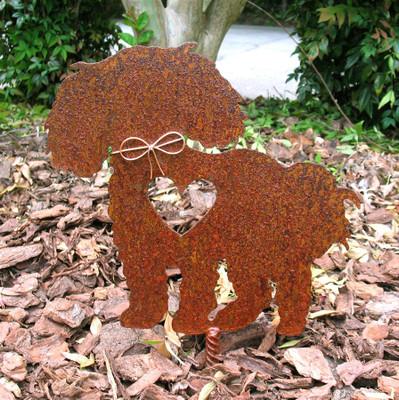 Bichon Frise Dog Metal Garden Stake - Metal Yard Art - Metal Garden Art - Pet Memorial