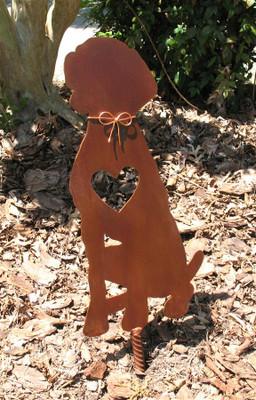 Weimaraner Dog Metal Garden Stake - Metal Yard Art - Metal Garden Art - Pet Memorial