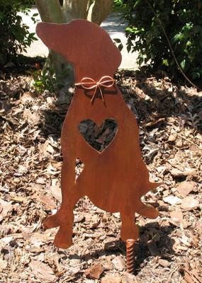 Greyhound Dog Metal Garden Stake - Metal Yard Art - Metal Garden Art - Pet Memorial