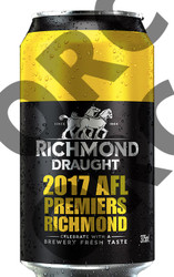 Richmond Draught Limited Edition 2017 AFL Premiers Richmond