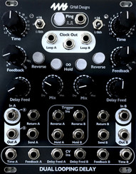 4MS Dual Looping Delay Black (DLD)