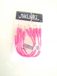 Make Noise 6inch(15.24cm) hot pink patch cable 5-pack