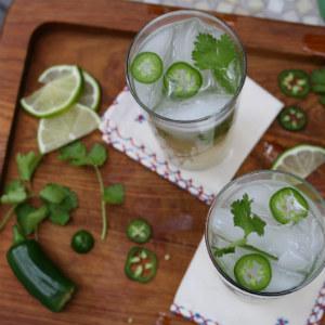 Tequila Cilantro Cocktail