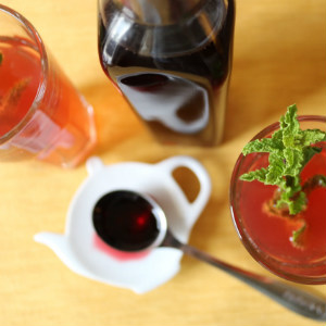 Hibiscus Berry Simple Syrup