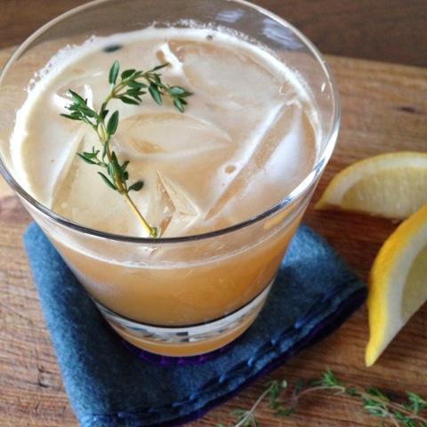 Honey Tea Thyme Cocktail