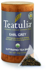 Teatulia Organic Earl Grey Tea 16ct Eco-Canister