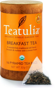 Teatulia Organic Breakfast Tea 16ct Eco-Canister