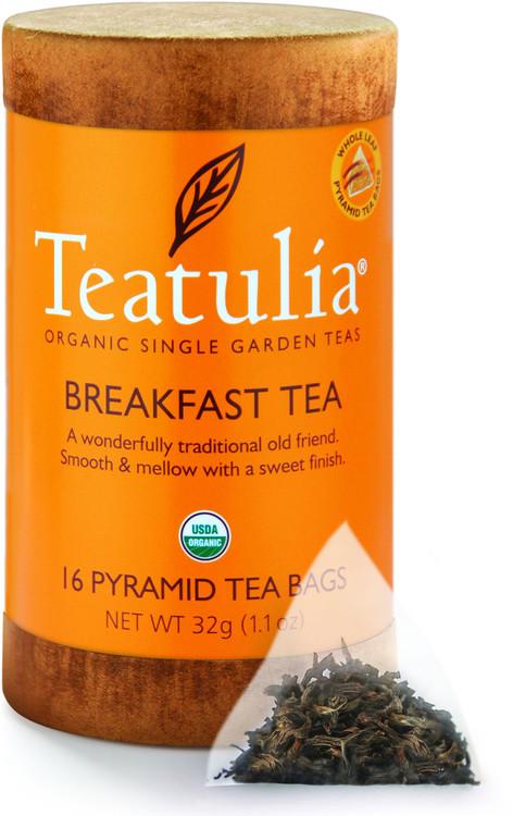 Teatulia Organic Breakfast Tea 16ct Eco-Canister
