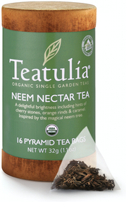 Teatulia Organic Neem Nectar Tea 16ct Eco-Canister