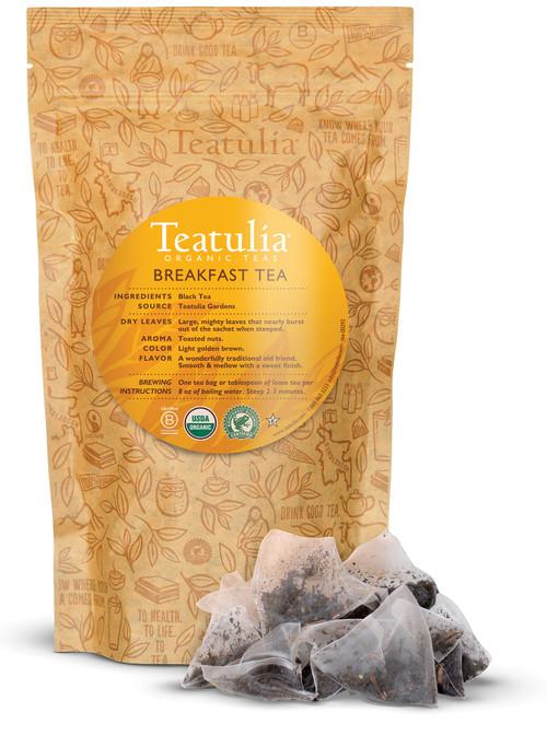 Organic Breakfast Tea - Bulk Pyramid Tea Bags