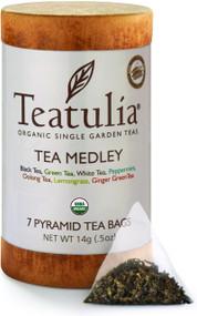 Teatulia Organic Tea Medley 16ct Eco-Canister