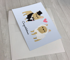 Wedding French Bulldogs Greeting Card