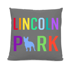 Lincoln Park French Bulldog Gray Pillow