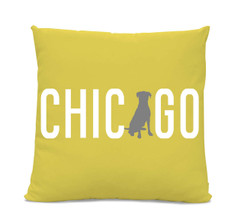Chicago Labrador Yellow Pillow