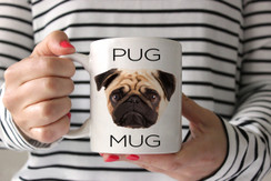 Pug Face Coffee Mug