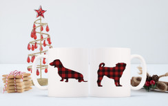 Buffalo Plaid Pet Mug