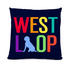 West Loop Beagle Navy Pillow