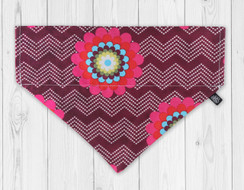 Raspberry Splash Slip-On Dog Bandana