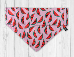 Pink Watermelon Slip-On Dog Bandana