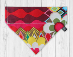 Rainbow Flower Mosaic Slip-On Dog Bandana