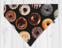 Donuts Slip-On Dog Bandana