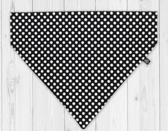 Ebony Dot Slip-On Dog Bandana