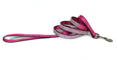 Pink Satin Bling Dog Leash