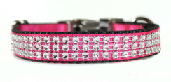 Pink Satin Bling Collar