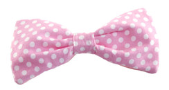 Dog Bow Tie Accessory in Pink + White Dot