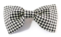 Dog Bow Tie Accessory in Houndstooth