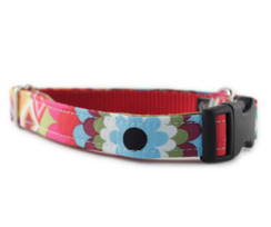 Rainbow Flower Mosaic Dog Collar