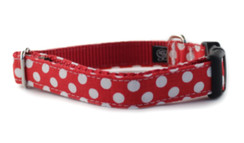 Crimson Dot Dog Collar