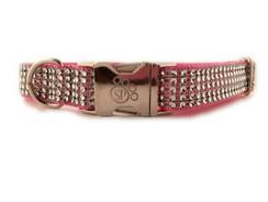 Rose Bling Dog Collar