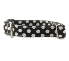 Ebony Dot Dog Collar