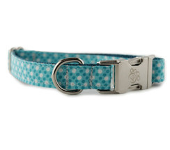 Ocean Tiny Dot Dog Collar