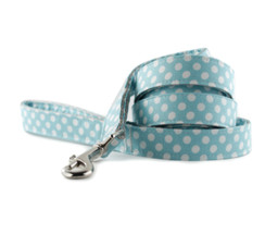 Ice Blue Dot Dog Leash