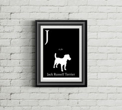 J is for Jack Russell Terrier Alphabet Art Print