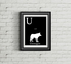 U is for Utonagan Alphabet Art Print