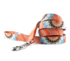 Orange Splash Dog Leash