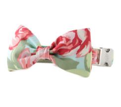 Rose Garden Bow Tie Dog Collar