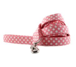 Bubble Gum Dot Dog Leash