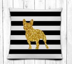 French Bulldog Stripe Pillow