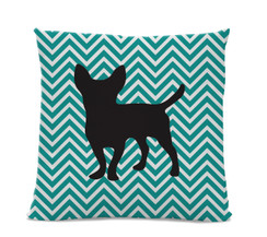 Chevron Chihuahua Pillow
