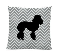 Chevron Poodle Pillow