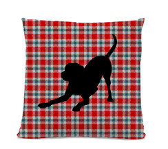Labrador Plaid Pillow