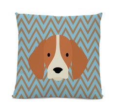 Beagle Chevron Pillow