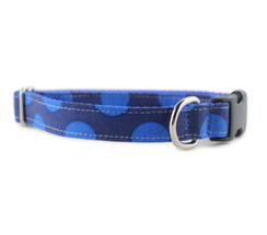 Blue on Blue Dot Dog Collar