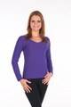Poly Rayon Spandex Long Sleeve Top