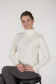 Waffle Model Spandex Waffle/Thermal Turtleneck with #17 Lace