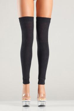 Thigh High Leg Warmers in Black
